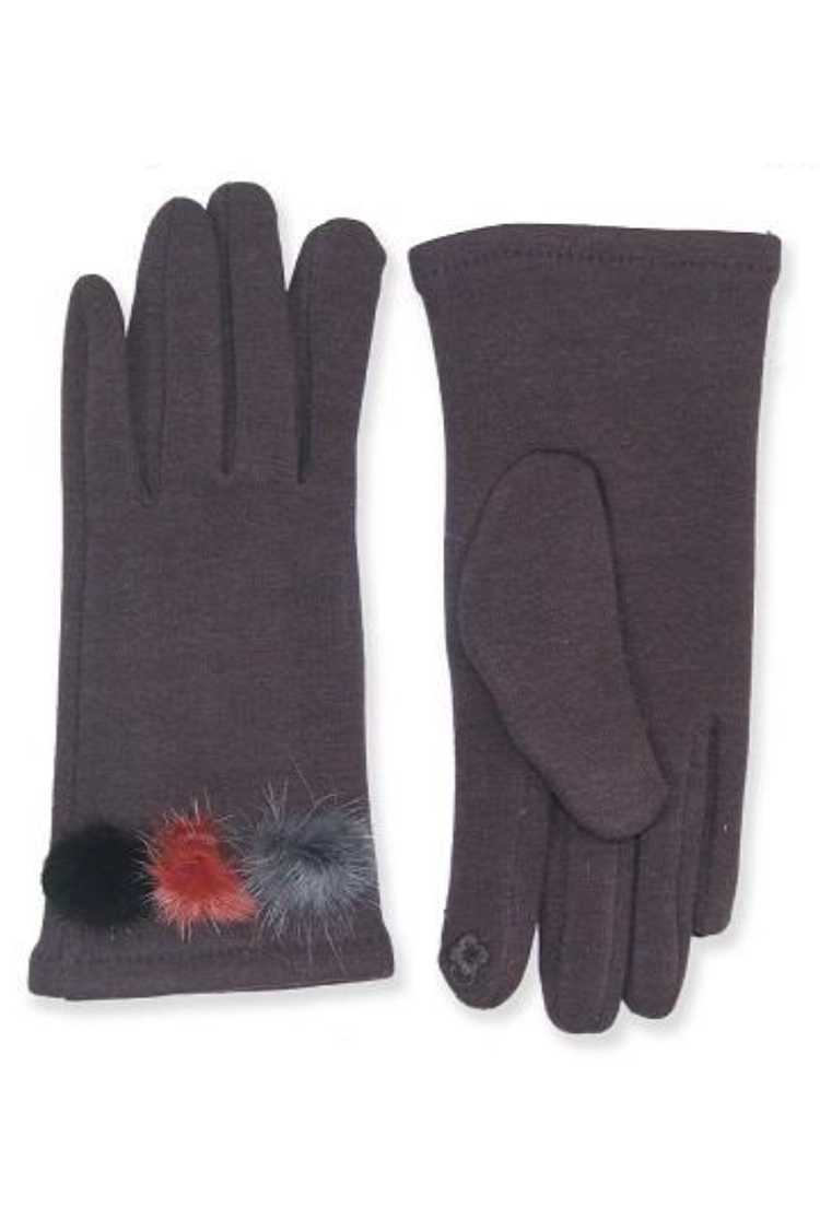 Fur Pom Accents Smart Gloves