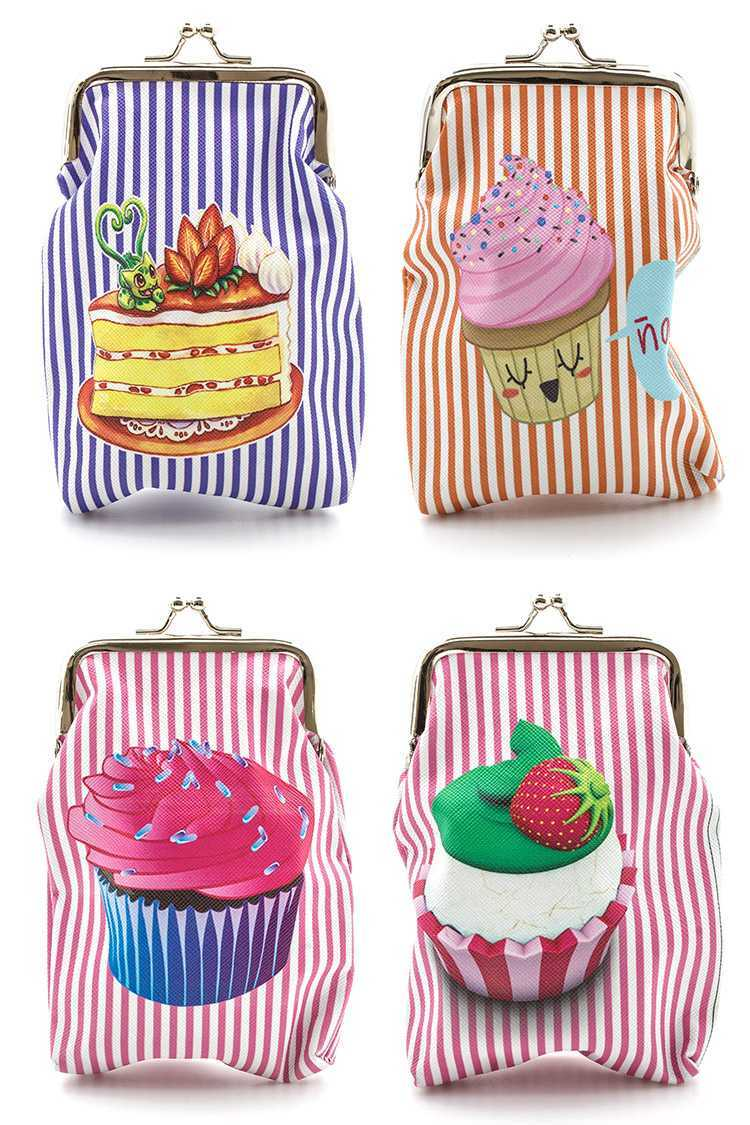 Cupcake Clasp Pouch Set