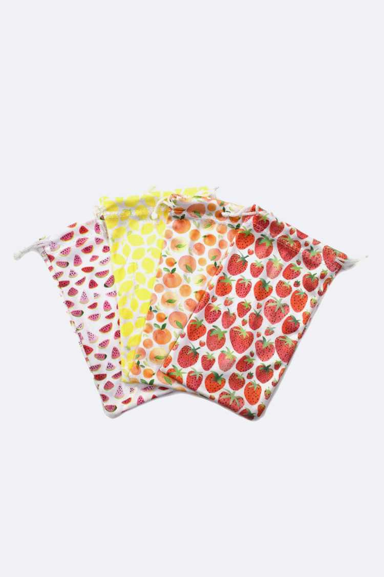 Fruit Print Sunglasses Pouch Package