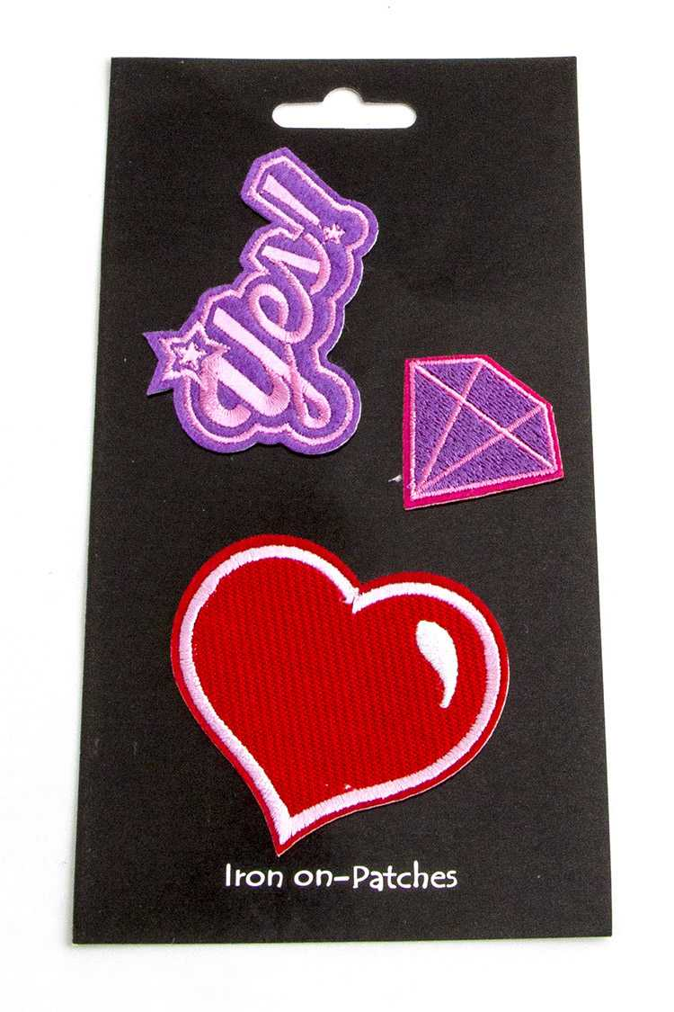 Diamond Heart Patches Set