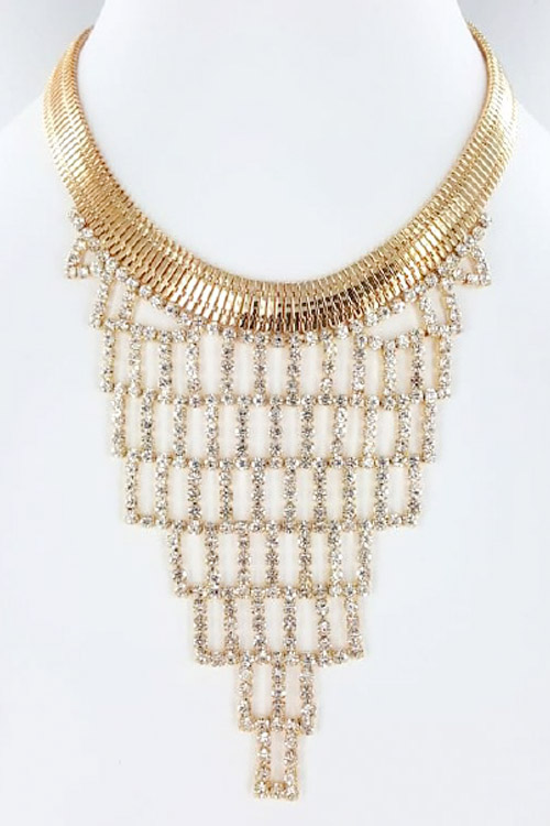 Rhinestone Iconic Fashion Necklace