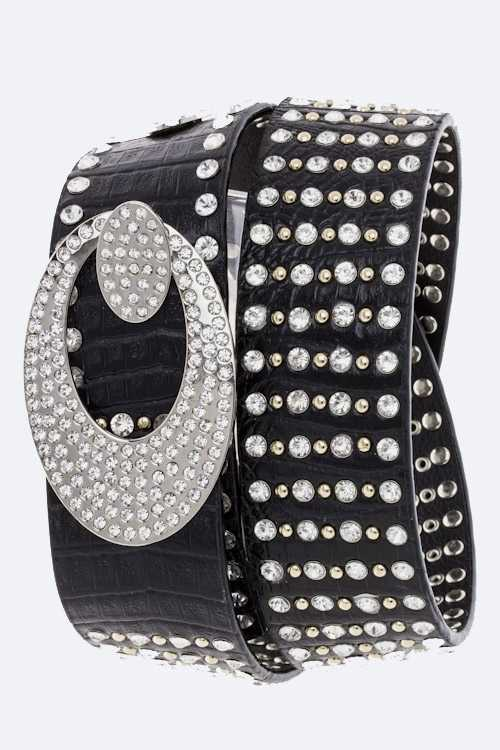 Crystal Studs Belt