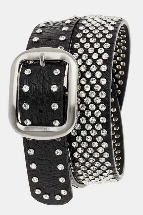 Crystal Studs Fashion Belt