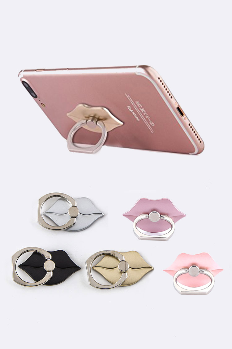 Lips Finger Ring Smartphone Stands Set