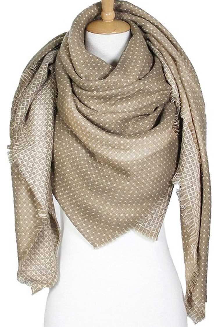 Polkadot Large Raw Edge Scarf