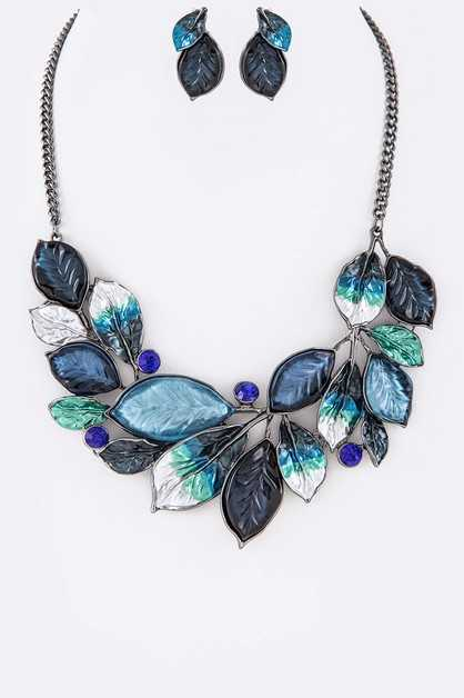Color Leafs Iconic Necklace Set