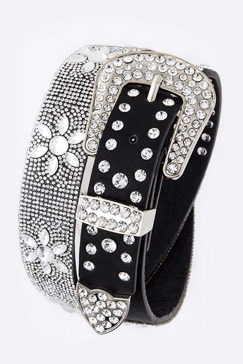 Crystal Flower Iconic Statement Belt
