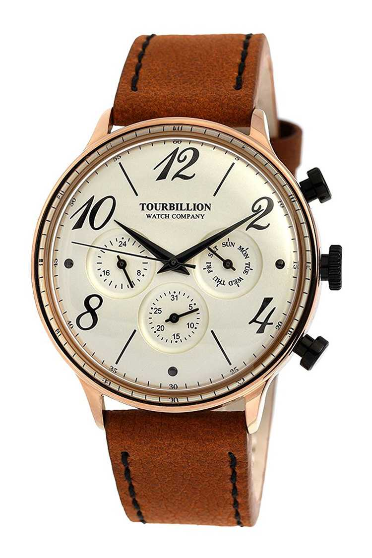 TOURBILLION WATCH COMPANY Retro Leather Watch