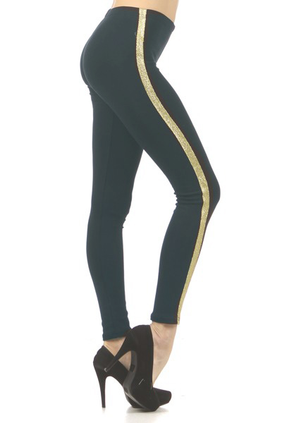 Lurex Stripe Fashion Leggings
