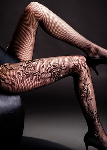 Rosary Designed Queen Size Fishnet Tights