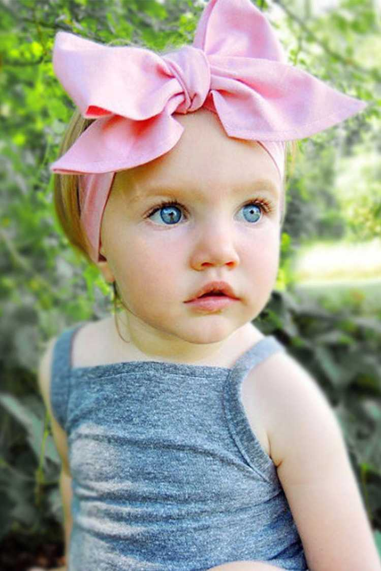 Toddler Size Jersey Knit Bow Stretch Headband