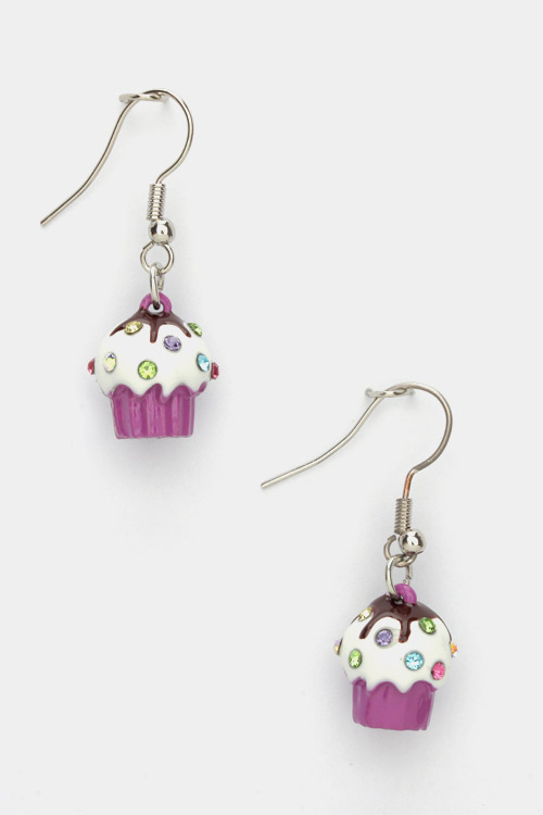 Small Cupcake Earrings