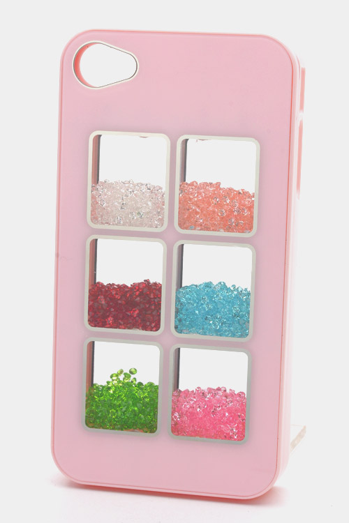 Crystal Filled 2 x 3 Mirrored Box iPhone 4/4S Case