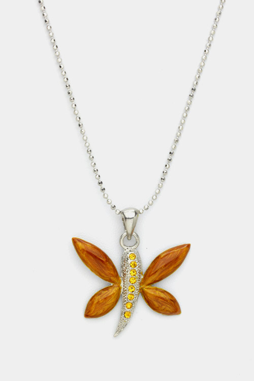 Crystal Butterfly Pendant