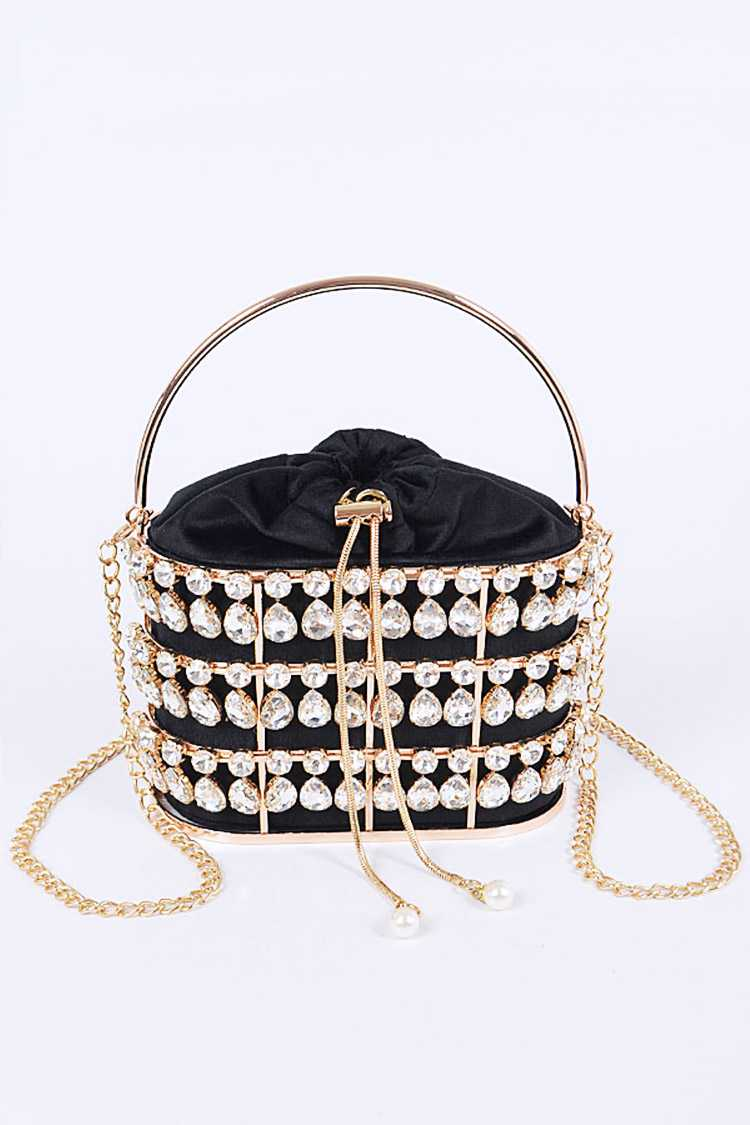 Crystal Iconic Basket Clutch