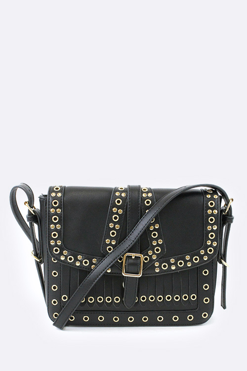 Mix Studs Crossbody Work Bag