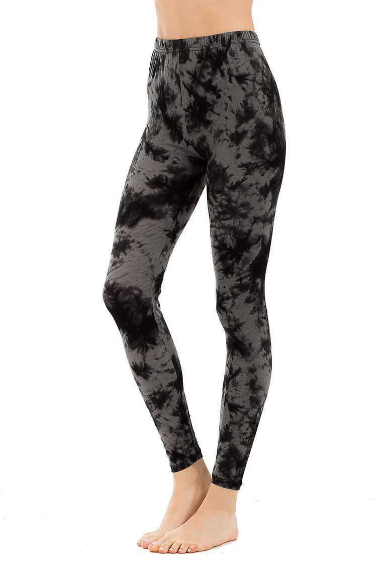 Peach Skin Grunge Print Leggings
