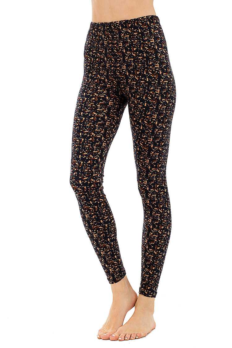 Peach Skin Pixie Print Leggings