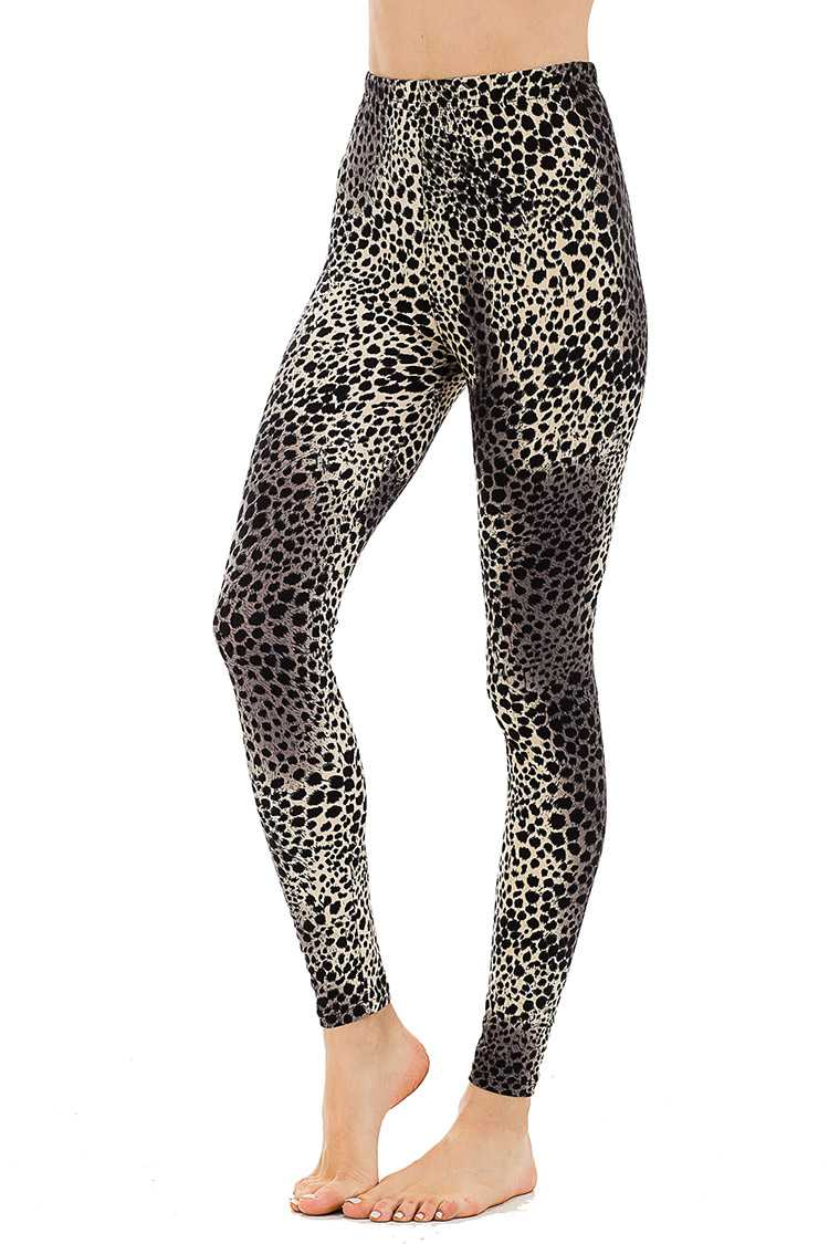 Peach Skin Leopard Print Leggings