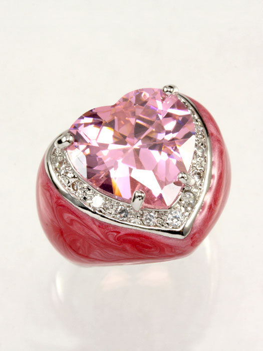 CZ Heart Epoxy Ring