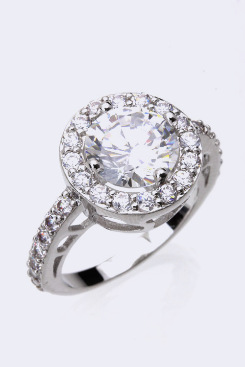 Round CZ Fashion Ring