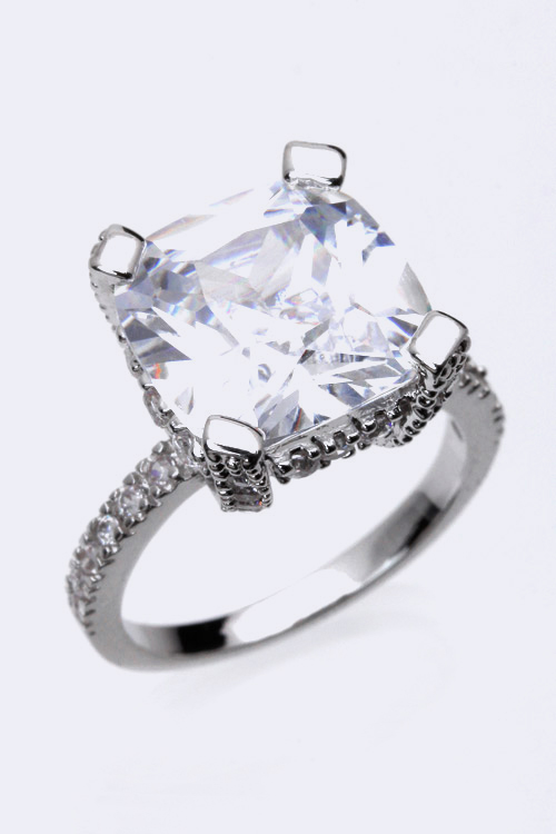 Large Cubic Zirconia Iconic Ring