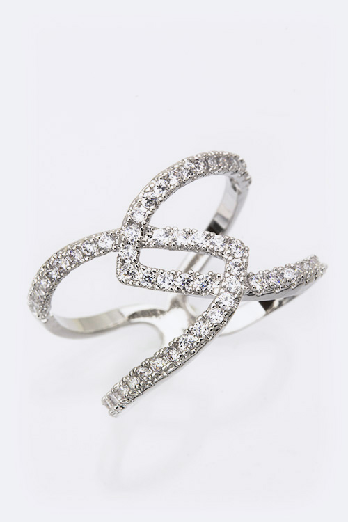 Cubic Zirconia Interlock Iconic Ring