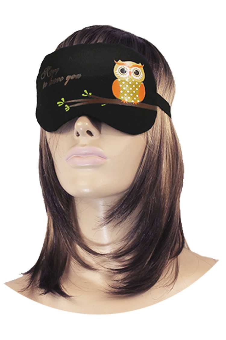 Padded Eye Mask & Soothing Gel Pad Set (OWL)