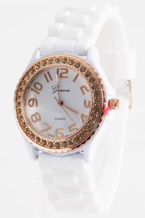 Rosegold Crystal Jelly Watch