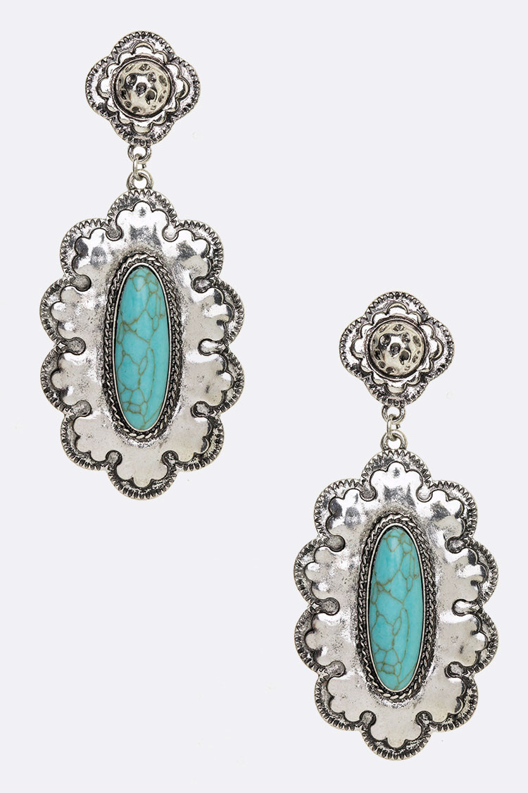 Vintage Inspired Turquoise Iconic Earrings