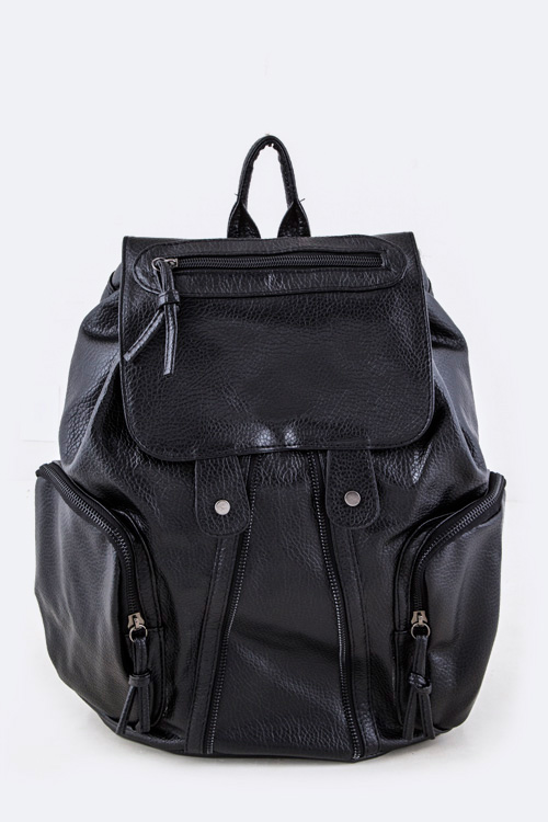 Zipper Accent Backpack