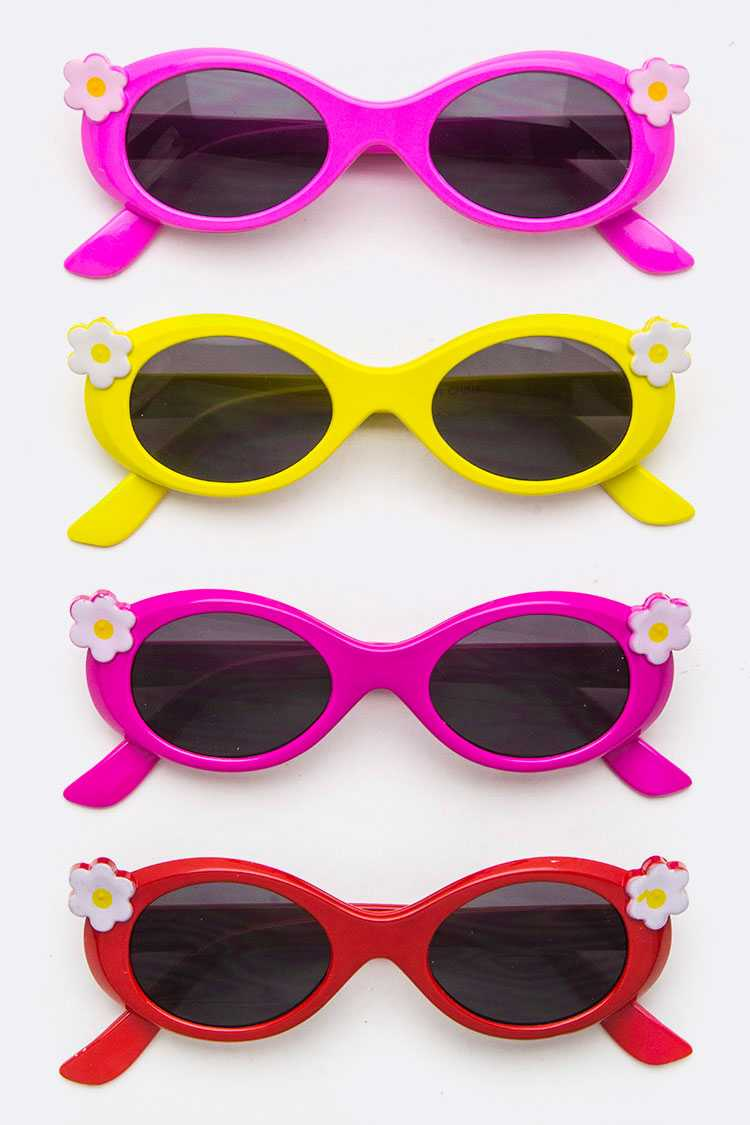 Kids Size Daisy Oval Sunglasses