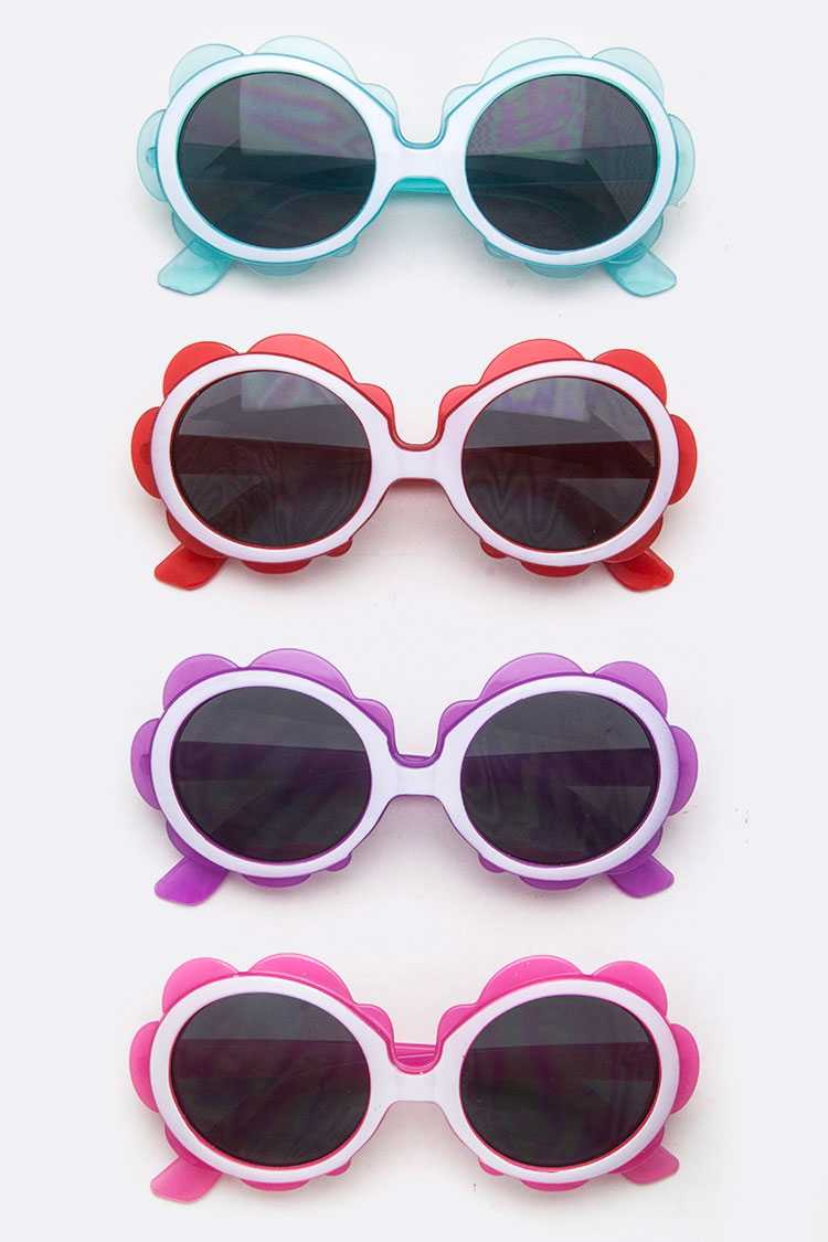 Kids Size Flower Sunglasses