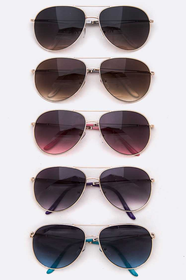 Classic Aviator Sunglasses Set