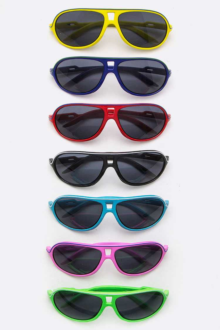 Kids Size Color Stripe Sunglasses