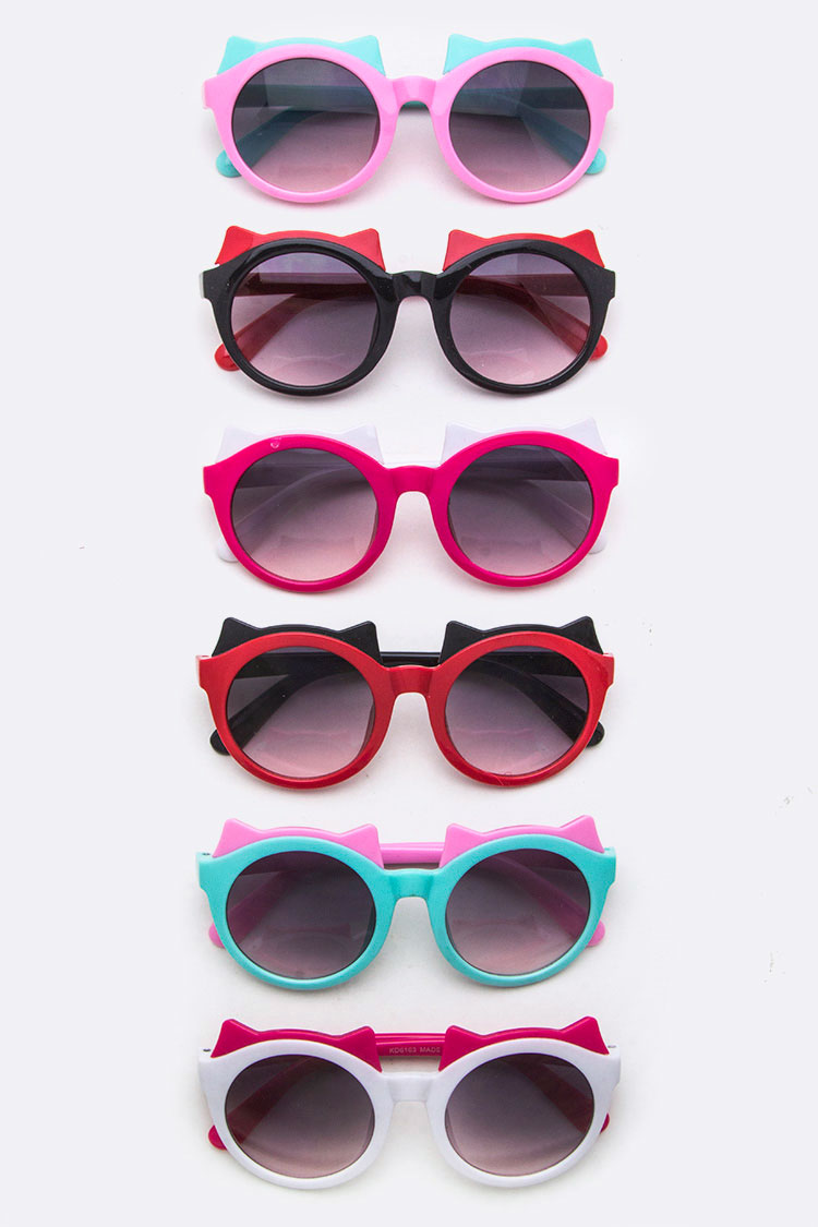 Kids Size 2 Tone Kitty Sunglasses