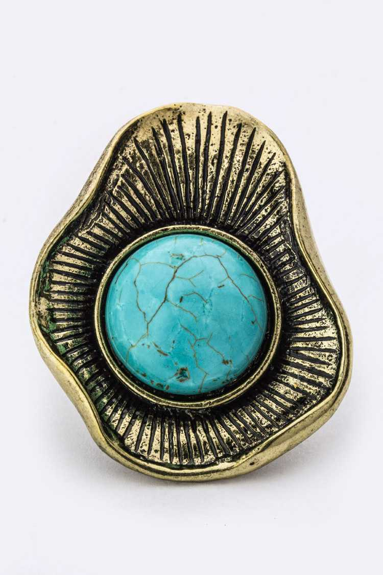 Wrapped Turquoise Stretch Ring
