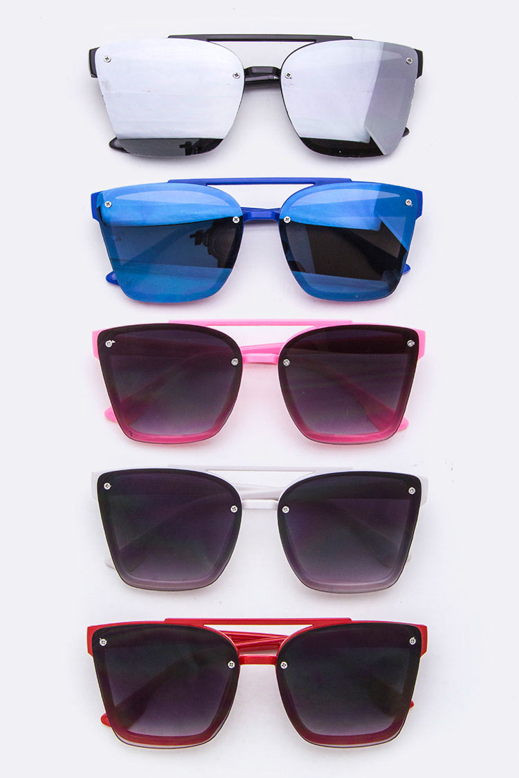 Kids Size Fashion Square Sunglasses