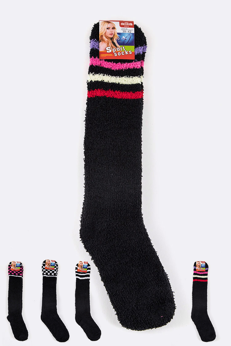 Knee High Plush Socks
