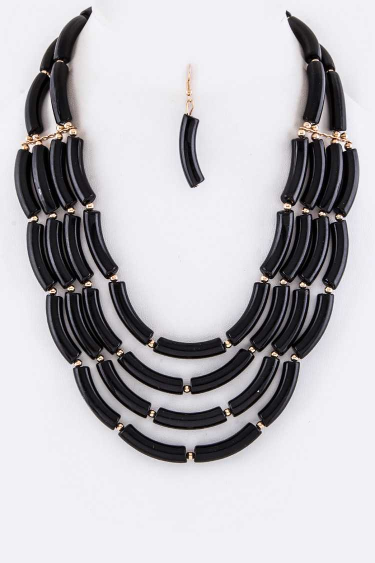 Layer Beads Necklace Set