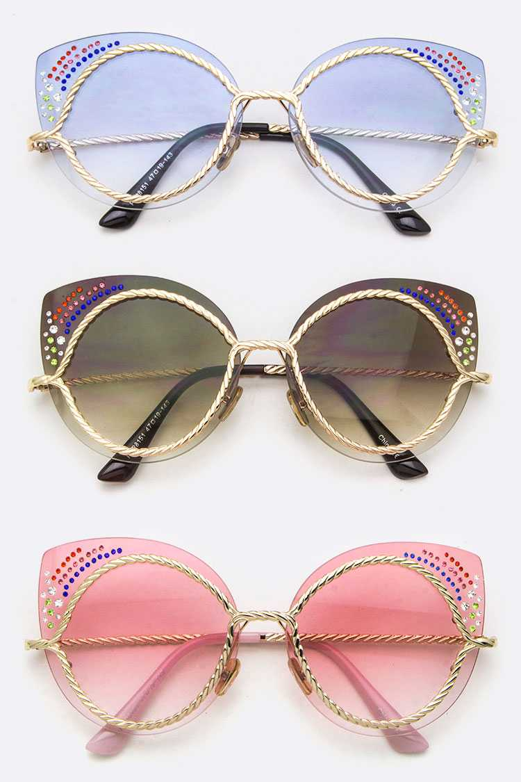 Framed Cateye Iconic Sunglasses