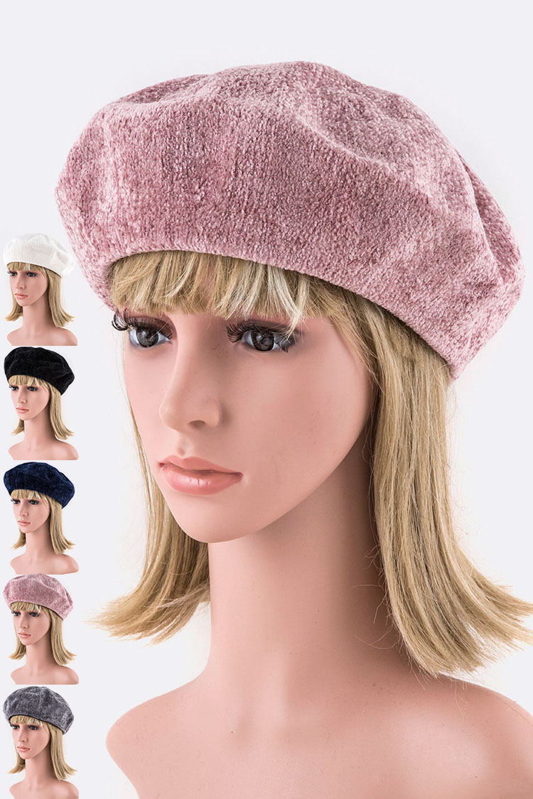 Designed Structure Chenille Beret