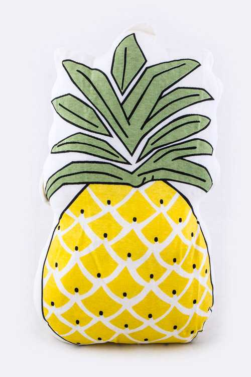 Pineapple Printed Large Cushion