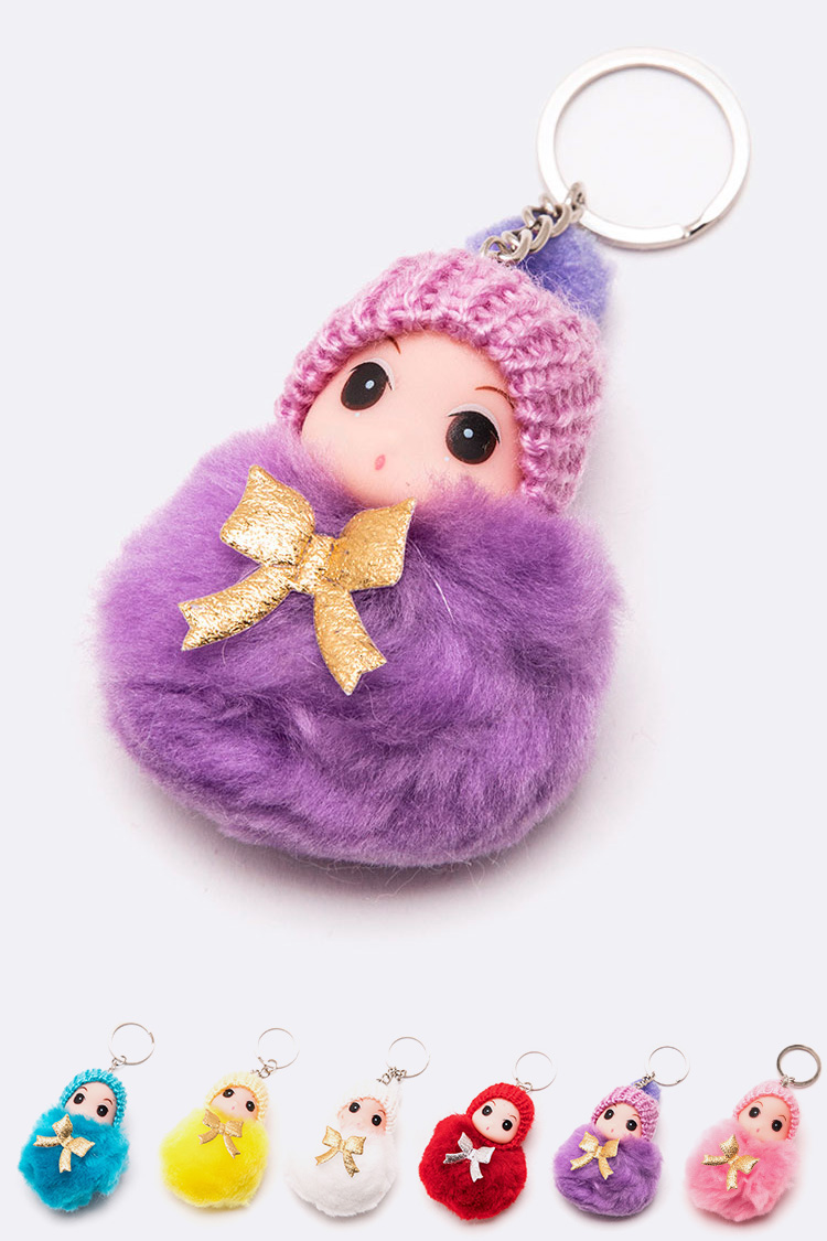 Little Infant PomPom Key Chain Set