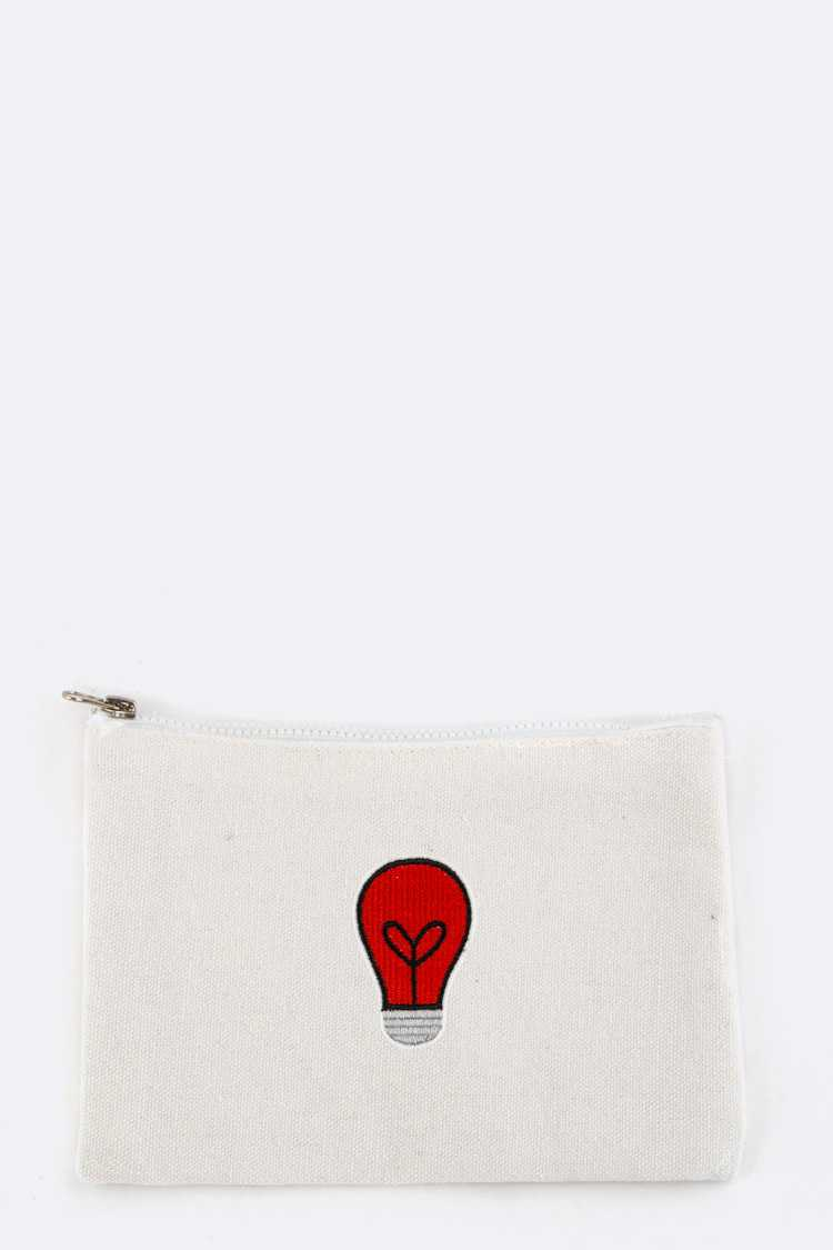 Light Bulb Patched Pouch
