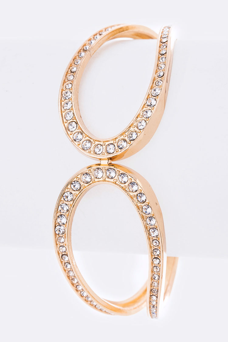 Crystal Iconic Hinge Bangle