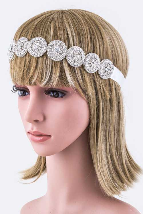 Crystal Wheels Convertible Headband & Tie Belt