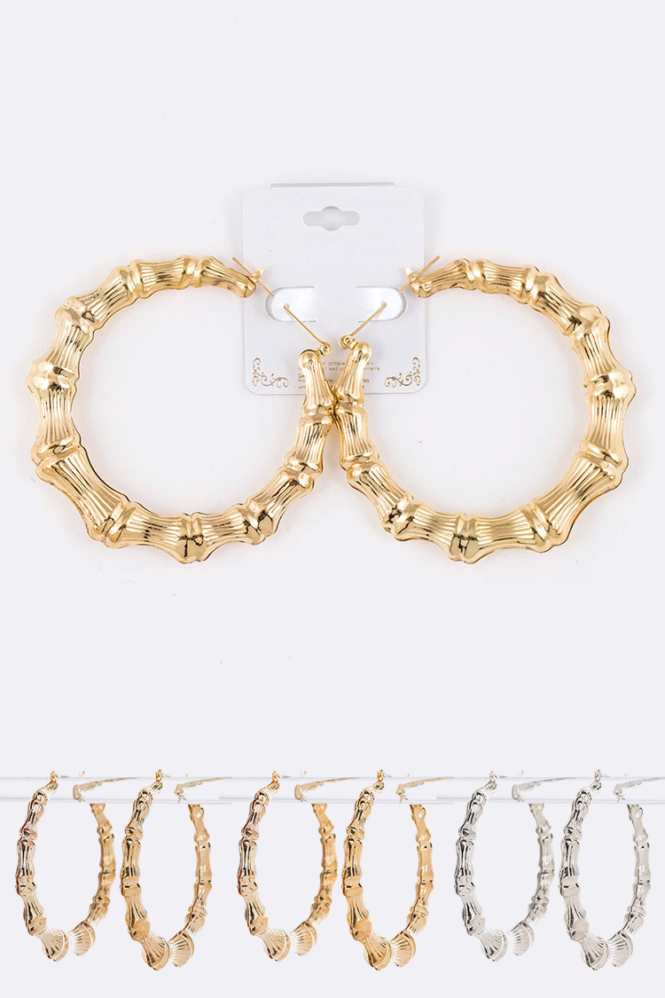 Iconic Large Bamboo Hoops