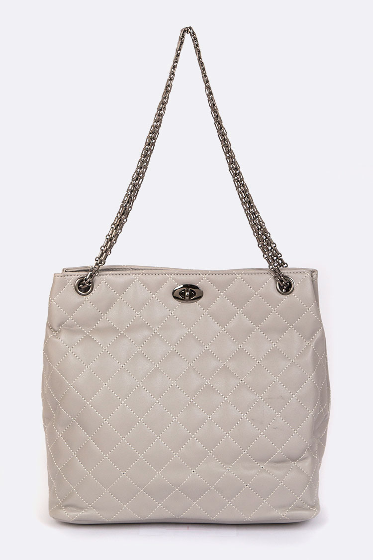 Quilted Day To Day Fashion Tote