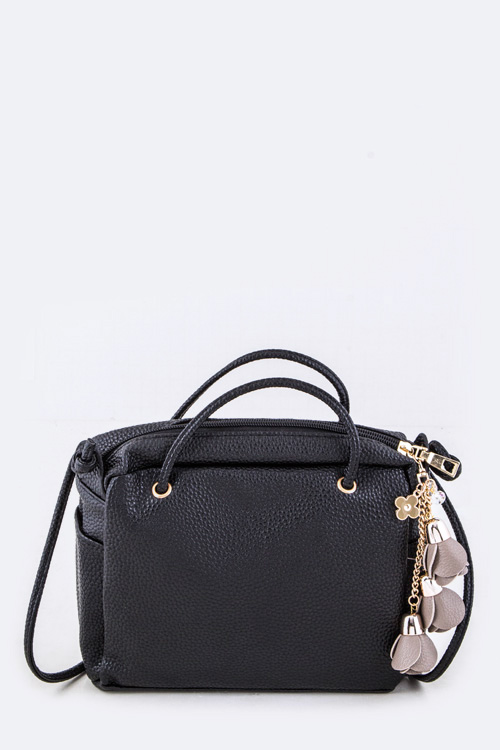 Grain Leather Crossbody Swing Bag